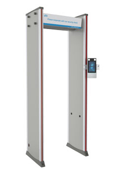 Metal detector & security gate with no-contact temperature measurement