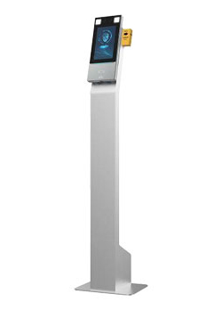 Facial recognition & no-contact temperature scanning kiosk with alarm & door access control capabilities